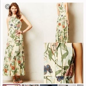 Maeve/Anthropologie Butterfly/Floral Maxi Dress-4